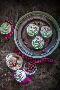 Raspberry Cupcakes With Rose Infused Cream