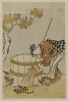 Image result for Japanese art well and bucket