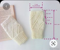 Fingerless Gloves Knitted, Crochet Gloves, Lace Gloves, Knitted Hats, Baby Knitting Patterns, Loom Knitting, Hand Knitting, Couture, Ribbed Crochet