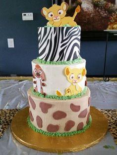 Baby Lion King shower cake timone nala