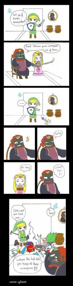 funny zelda game by oscar-ojisan