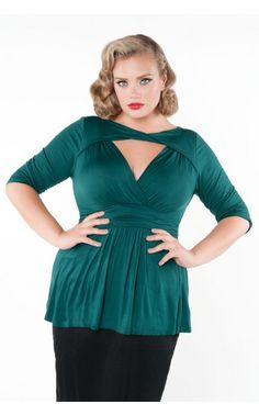 Athena Twist Top in Deep Green