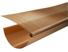 Detailed View of Gutter Screen Installed on Copper Gutter at Classic Gutter Systems LLC - Manufacturer of Copper and Aluminum Gutters and Downspouts