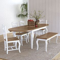 "Thinking about this dining set for our ""beach within reach"" theme for our living room, kitchen and dining room. :)"