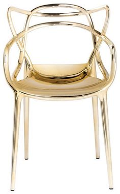 Gold chairs for my dining room. I'd totally glam it up!