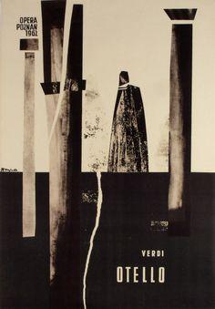 Otello - Verdi- Polish Opera Poster: Polish Posters Shop Zbigniew Kaja