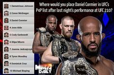 Before it is updated, where would you place Daniel Cormier in the Official #UFC #P4P list after last night's performance at #UFC210? #mma #ufc