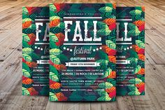 Fall Festival Flyer Template by Madhabi Studio on @creativemarket