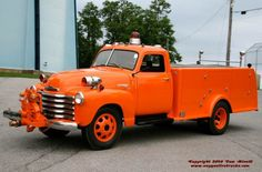 1949  Chevrolet/High Steel pumper...yes it is orange....