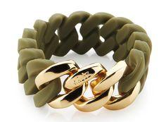 bracelet - dark olive & soft gold - 20 mm - 49€