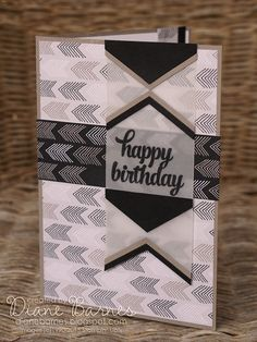 masculine birthday card using Stampin Up Go WIld paper & Tin of Cards stamps. By Di Barnes #colourmehappy