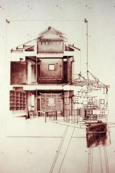 Morphosis Architects Venice III Conceptual Drawing 1982 Graphite on Mylar