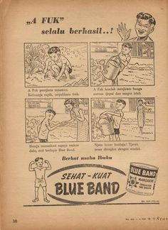 Indonesian Old Commercials:Blue Band Margarine 1958