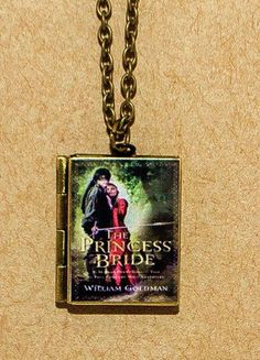 Princess Bride locket Bronze toned chain and locket. Locket has hinged opening. Store a lock of hair from your beloved, a secret note - or your passwords (JK)