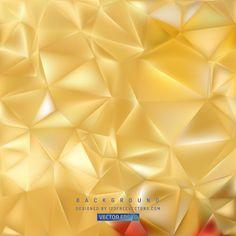 Gold Geometric Polygon Background