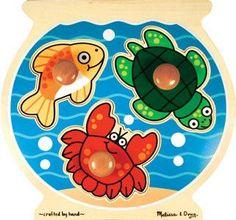 Jumbo Knob Puzzle - Fish Bowl