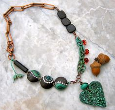 viva el amor necklace  . . . by marthasrubyacorn on Etsy, $87.00