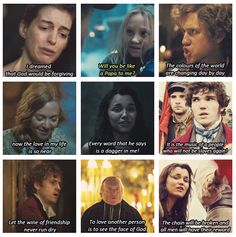 Quotes from Les Mis. I just choked up. Pardon me while I have a good Fangirl cry in the corner.
