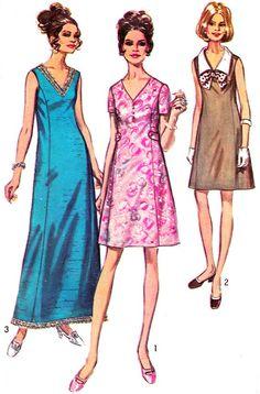 1960s Dress Pattern Simplicity 8554 Princess Seam V by paneenjerez, $10.00