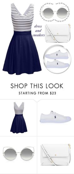 """dress and sneakers"" by teto000 ❤ liked on Polyvore featuring Polo Ralph Lauren, Marc Jacobs, Tory Burch and dress"