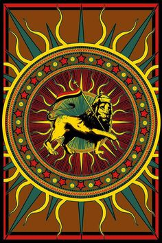 Rasta Lion with Flag  Tapestry Wall Hanging by RockBandTshirts, $25.00