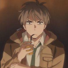 "Friendly reminder that this angry ball This adorable angry fluff Doesn't mind being called""katou-chan"" by his chief. Anime Boys, Manga Anime, Tsundere, Satsuriku No Tenshi, Anime Profile, Kato, Haikyuu Anime, Aesthetic Anime, Anime Characters"