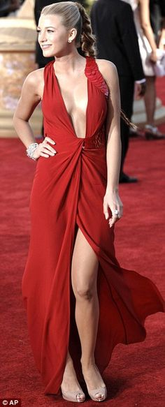 Blake Lively in Versace at the 61st Emmy Awards, September 2009