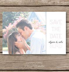 Printable Save the Date / DIY Custom Save the Date / Style 001, via limefishshop on Etsy