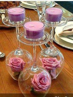 Copas flores velas