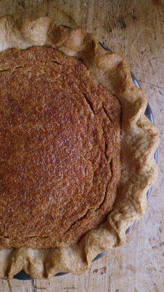 Maple Syrup Pie with Walnut Crust