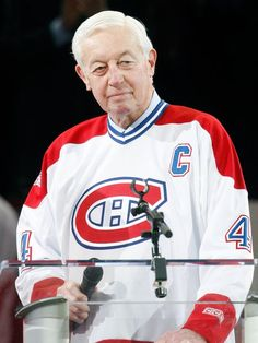 Hockey fans are mourning the loss of one of the NHL's greatest stars, former Montreal Canadiens player Jean Béliveau, who passed away peacefully on Tuesday night December at age Montreal Canadiens, Mtl Canadiens, Nhl Jerseys, Hockey Teams, Ice Hockey, Kings Hockey, Hockey Girls, Hockey Mom, Montreal Hockey