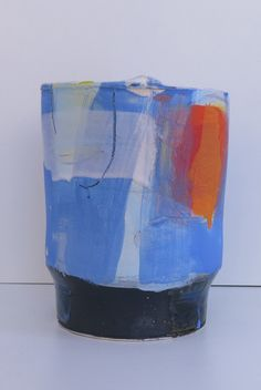 Ceramic vessels by Barry Stedman Vases, Colors Drama, Keramik Vase, Earthenware Clay, Year 2, Contemporary Ceramics, Sculpture, Mark Making, Ceramic Pottery