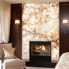 Marbled fire wall