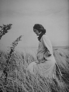 Jackie Kennedy finds a moment of peace on the beach at Hyannis Port before the Presidency begins, following her husband's victory