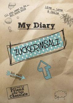 My Diary Zuckerimsalz Deckblatt