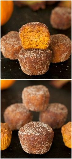 These moist, vegan, and dairy-free pumpkin donut holes are 100% whole wheat and naturally sweetened with maple syrup! #vegan #dairyfree #wholegrain