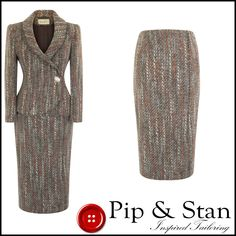 Warm but lightweight, 2 piece skirt suit in a 90% wool tweed look fabric. Superb quality, from the 'Minuet' tailoring range. Calf length skirt. Hip length tailored jacket. 90% wool. Rest of world £25. | eBay!