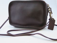 Vintage Coach Carnival Dark Brown Small Leather Crossbody Purse by BorjonsVintage on Etsy $52.99