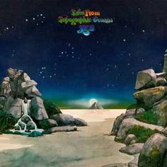 Yes : Tales From Topographic Oceans Cover by distinctive artist Roger Dean, who did most of their album covers. - Friday Music : OLDIES.com