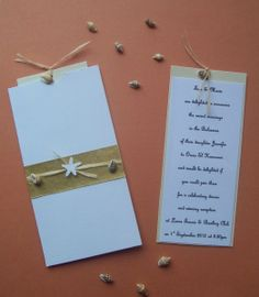 Beach Wedding Invitation - Pocket & Insert Style - Rafia #CRAFTfest