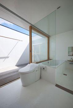 House in Futakoshinchi by Tato Architects - i hope that's an outdoor shower!