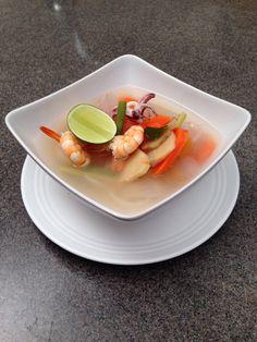 Tomyam dish featured Kancheong Kitchen Show on @8TV.