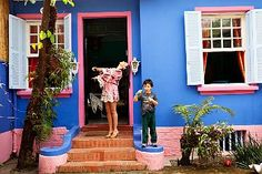 #decoratecolorfully pink+blue home