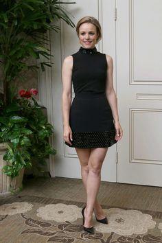 Simply exquisite dress in black on Rachel Mcadams. : OMG Simply exquisite dress on Rachel Mcadams. Love every detail. @ via Rachel Mcadams Legs, Rachel Anne Mcadams, Beautiful Legs, Beautiful People, Chica Cool, Rocker, Rock Chic, Famous Women, Mode Style