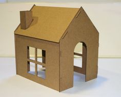 Toy Cardboard House by feYerwerks on Etsy, $5.00