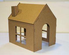 Toy Cardboard House by feYerwerks on Etsy, $5.00