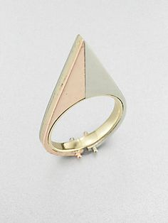 A.L.C. 14K Yellow and Rose Gold Triangle Ring (=)