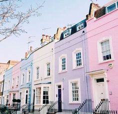 cutest little homes, love all the colors