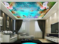 Personnalisé 3d plafond peintures murales de papier peint 3d papier peint 3 d…