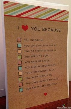 I love you because husband / wife or boyfriend / girlfriend quiz card and envelope (DIY gift boyfriend) – DIY - Birthday Presents Valentines Day History, Valentines Day Funny, Valentine Day Gifts, Valentines Diy For Him, Valentine Ideas, Bf Gifts, Best Friend Gifts, Love Gifts, Diy Gifts For Christmas